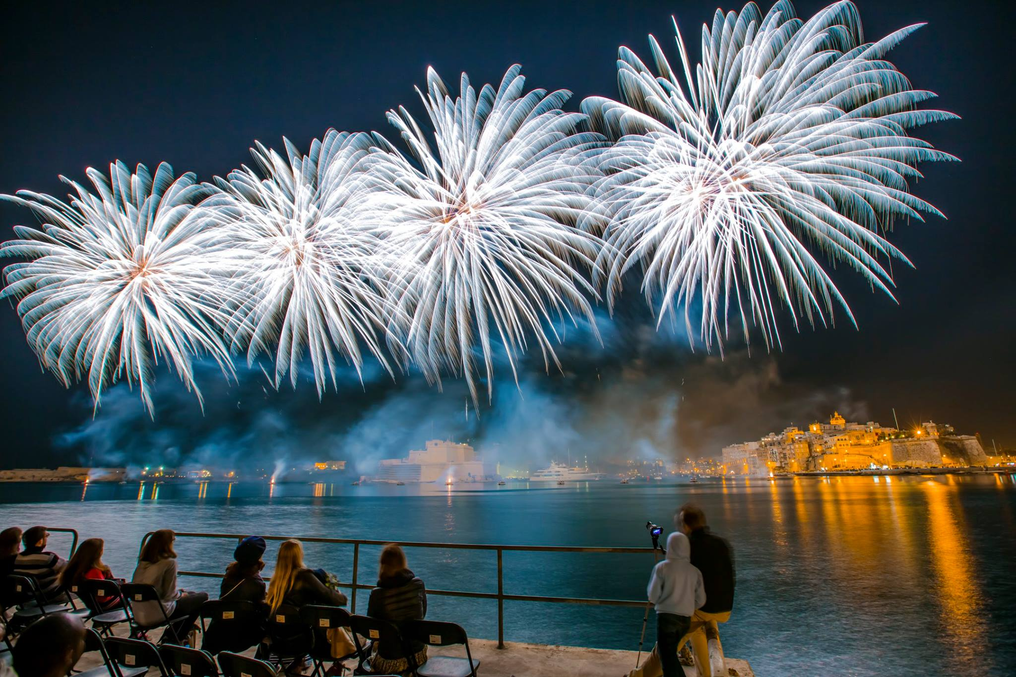 Exclusive viewing of the Fireworks Festival's grand finale at Fort St Angelo
